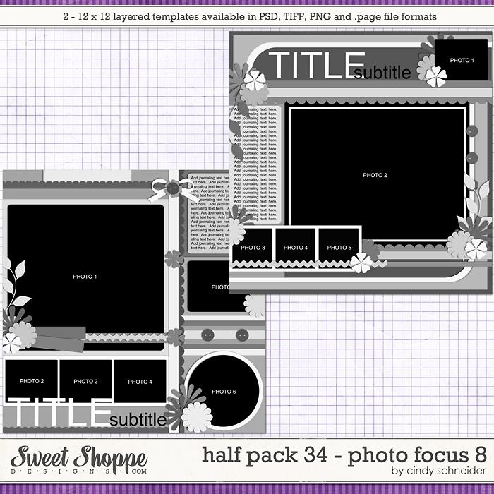 Cindy's Layered Templates - Half Pack 34: Photo Focus 8 by Cindy Schneider