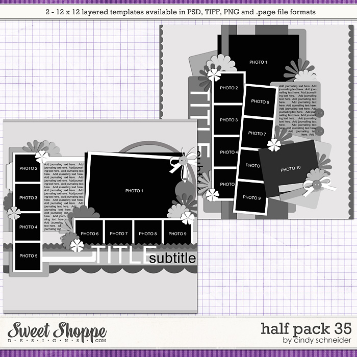 Cindy's Layered Templates - Half Pack 35 by Cindy Schneider