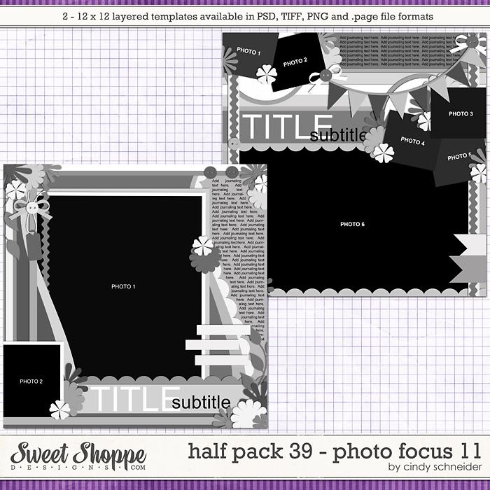 Cindy's Layered Templates - Half Pack 39: Photo Focus 11 by Cindy Schneider