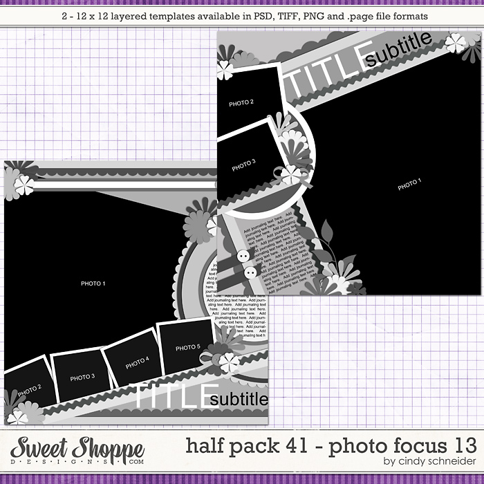 Cindy's Layered Templates - Half Pack 41: Photo Focus 13 by Cindy Schneider