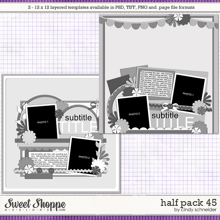 Cindy's Layered Templates - Half Pack 45 by Cindy Schneider