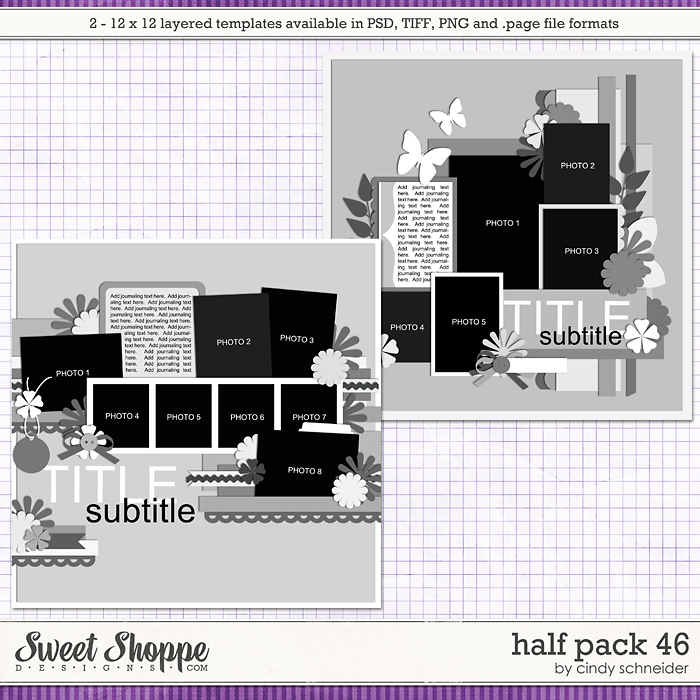 Cindy's Layered Templates - Half Pack 46 by Cindy Schneider