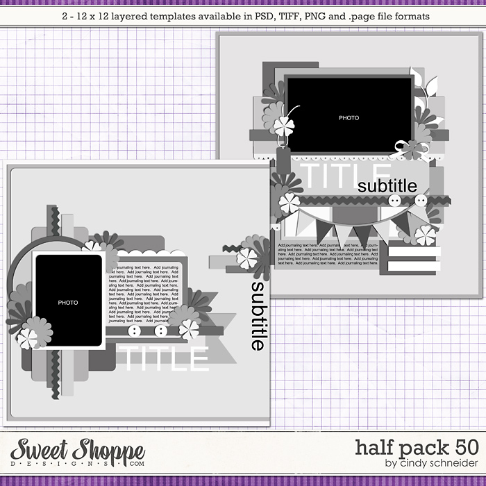 Cindy's Layered Templates - Half Pack 50 by Cindy Schneider