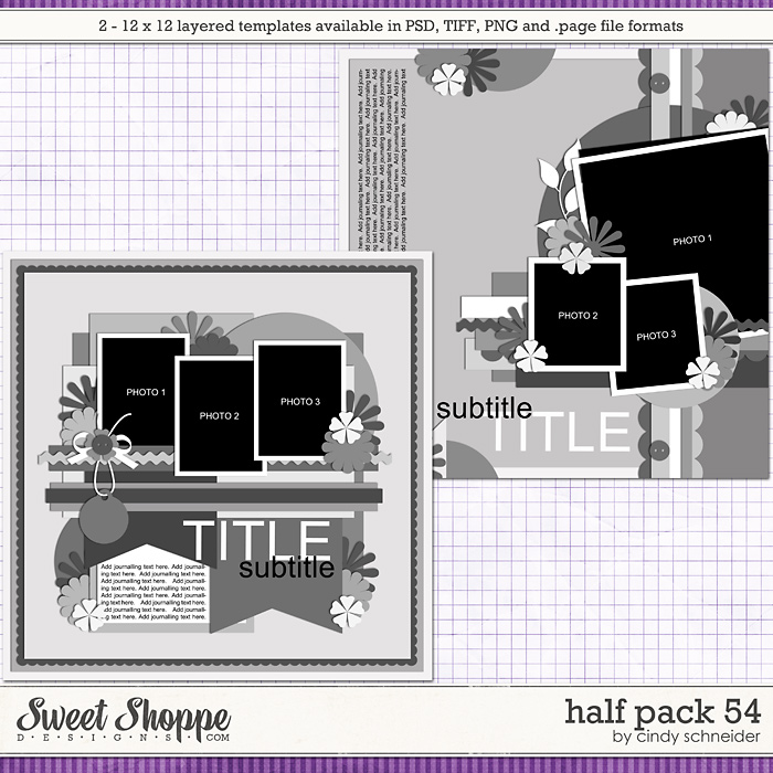 Cindy's Layered Templates - Half Pack 54 by Cindy Schneider