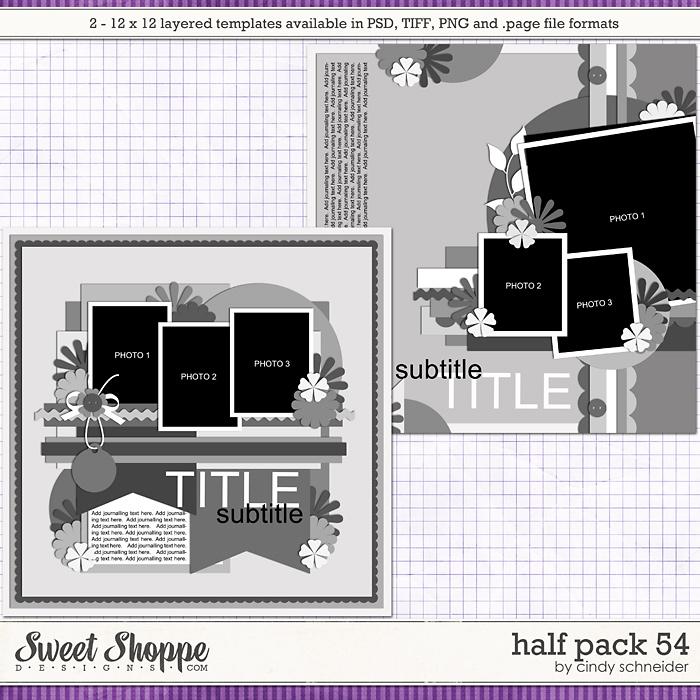Cindy's Layered Templates - Half Pack 54 by Cindy Schneider