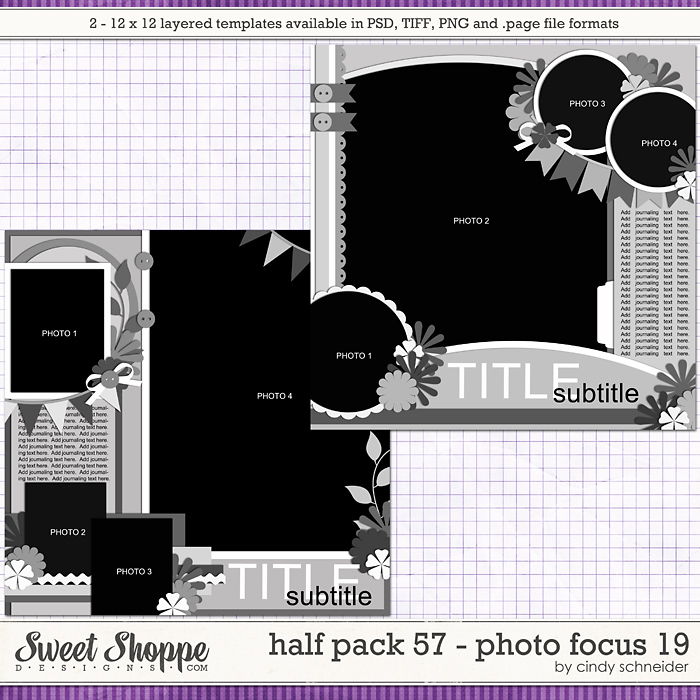 Cindy's Layered Templates - Half Pack 57: Photo Focus 19 by Cindy Schneider