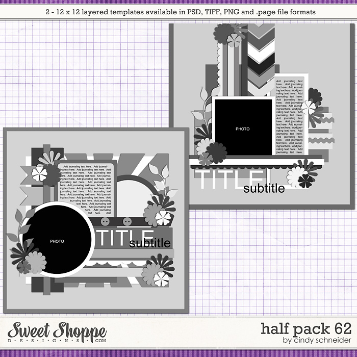 Cindy's Layered Templates - Half Pack 62 by Cindy Schneider