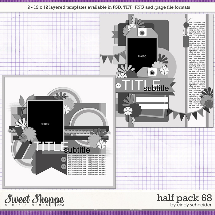Cindy's Layered Templates - Half Pack 68 by Cindy Schneider