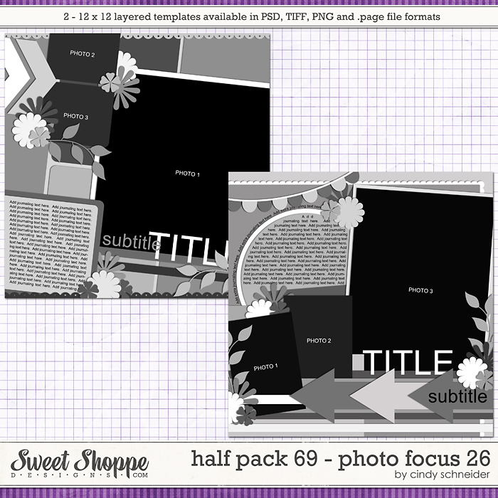 Cindy's Layered Templates - Half Pack 69: Photo Focus 26 by Cindy Schneider
