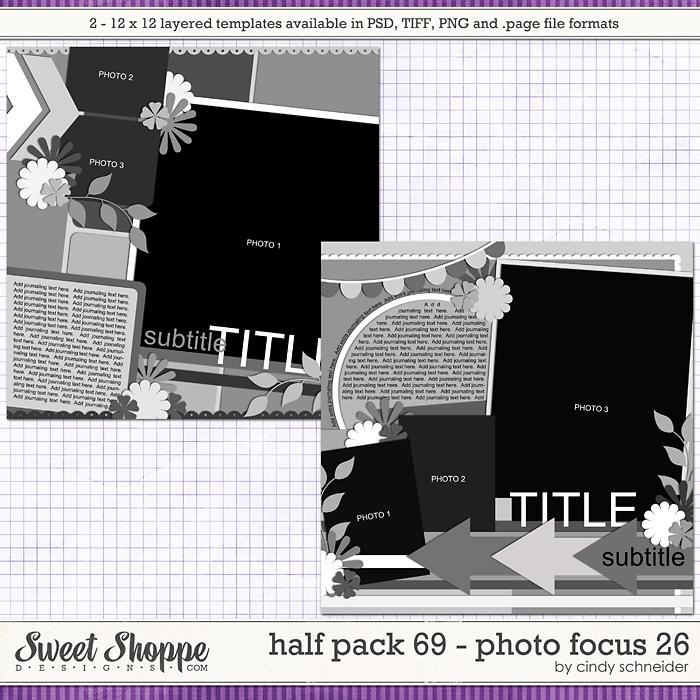 Cindy's Layered Templates - Half Pack 69: Photo Focus 26 by Cindy Schneider