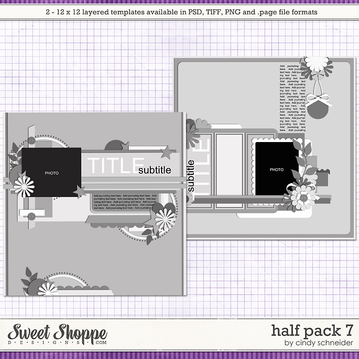 Cindy's Layered Templates - Half Pack 7 by Cindy Schneider