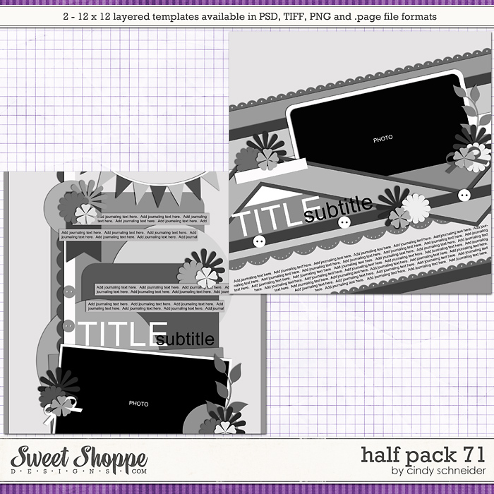 Cindy's Layered Templates - Half Pack 71 by Cindy Schneider
