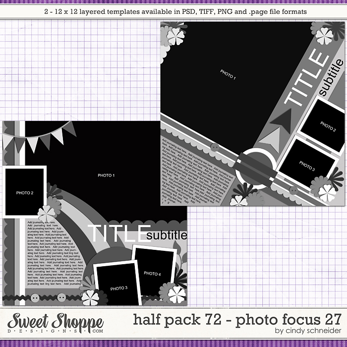 Cindy's Layered Templates - Half Pack 72: Photo Focus 27 by Cindy Schneider