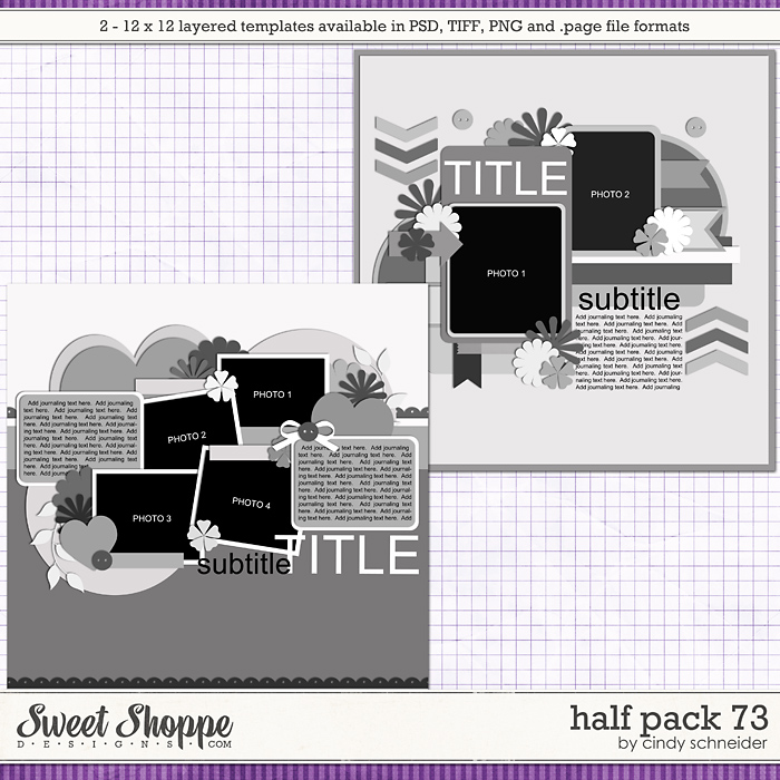 Cindy's Layered Templates - Half Pack 73 by Cindy Schneider