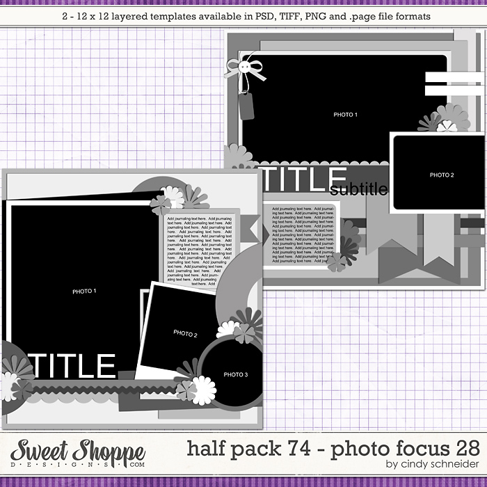 Cindy's Layered Templates - Half Pack 74: Photo Focus 28 by Cindy Schneider