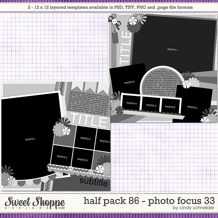 Cindy's Layered Templates - Half Pack 86: Photo Focus 33 by Cindy Schneider