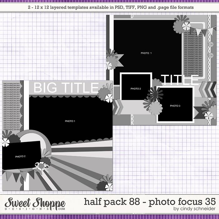 Cindy's Layered Templates - Half Pack 88: Photo Focus 35 by Cindy Schneider