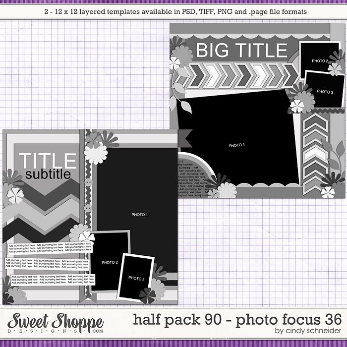 Cindy's Layered Templates - Half Pack 90: Photo Focus 36 by Cindy Schneider