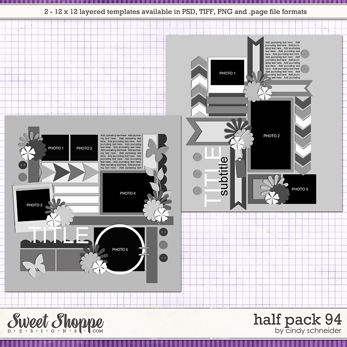 Cindy's Layered Templates: Half Pack 94 by Cindy Schneider