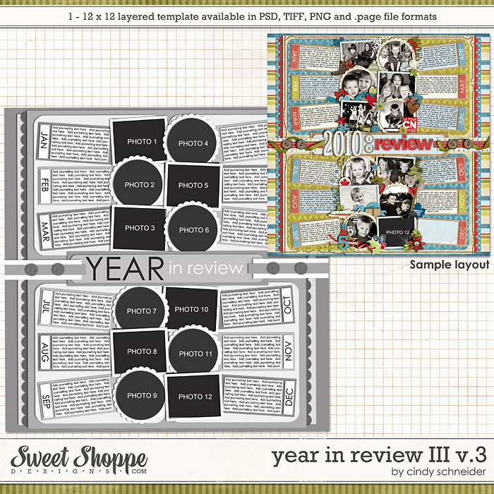 Cindy's Layered Templates - Year in Review III V3 by Cindy Schneider