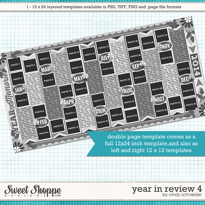 Cindy's Layered Templates - Year in Review 4 by Cindy Schneider