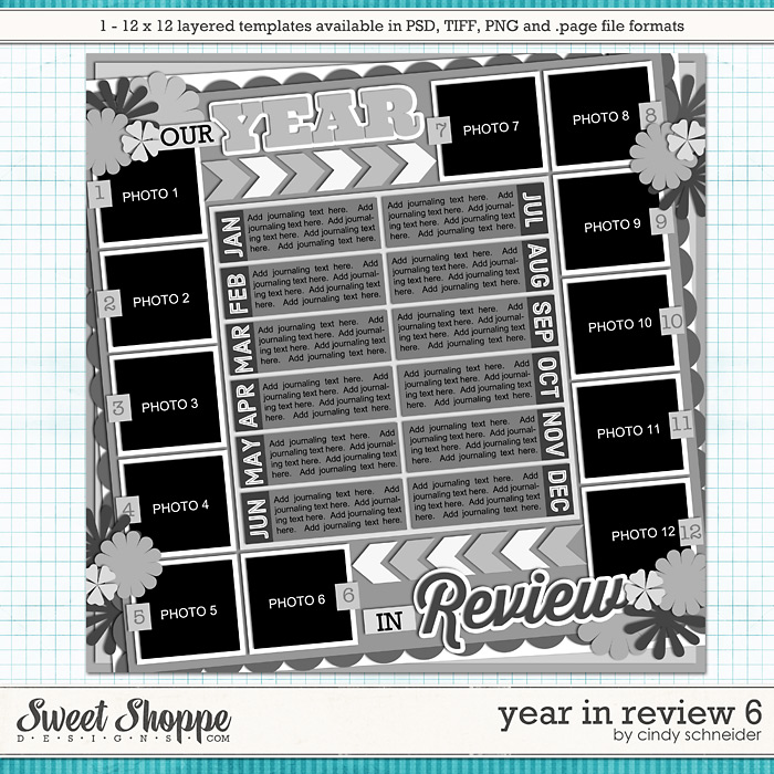 Cindy's Layered Templates - Year in Review 6 by Cindy Schneider
