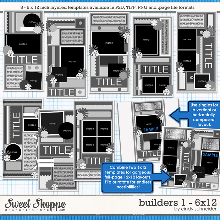 Cindy's Layered Templates - Builders 1: 6x12 by Cindy Schneider