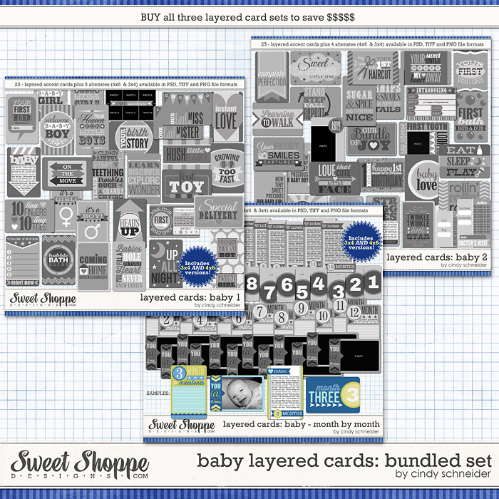 Cindy's Layered Cards: Baby Bundle by Cindy Schneider