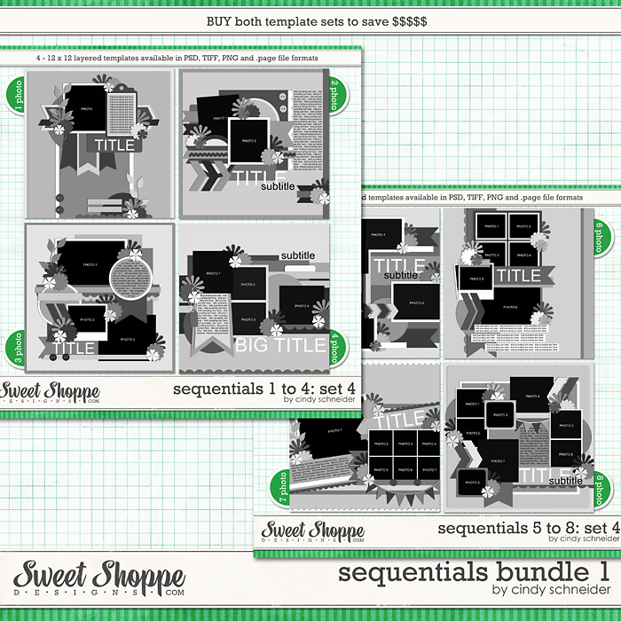 Cindy's Layered Templates: Sequentials Bundle 1 by Cindy Schneider