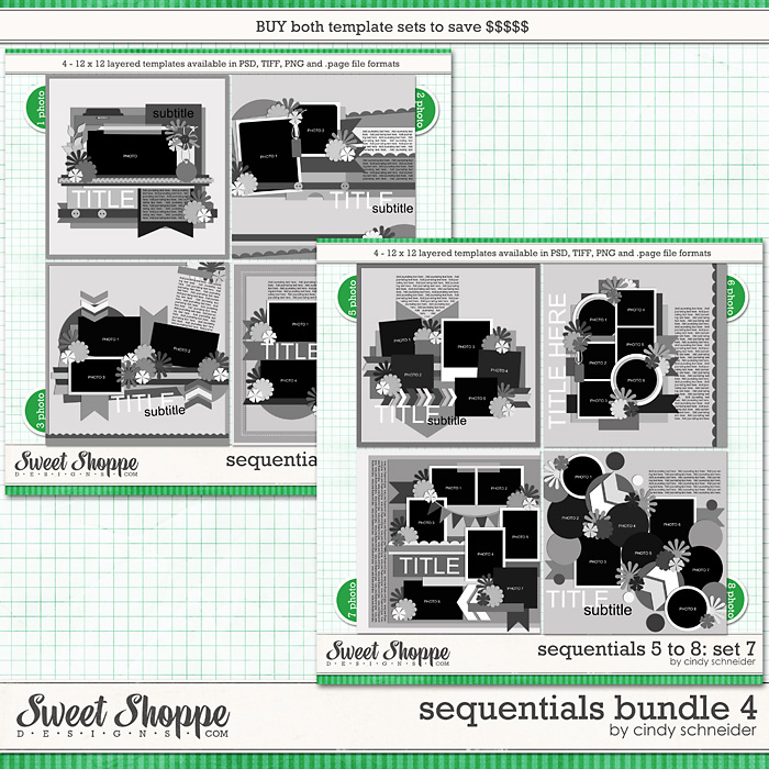 Cindy's Layered Templates - Sequentials Bundle 4 by Cindy Schneider