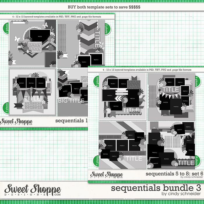 Cindy's Layered Templates - Sequentials Bundle 3 by Cindy Schneider