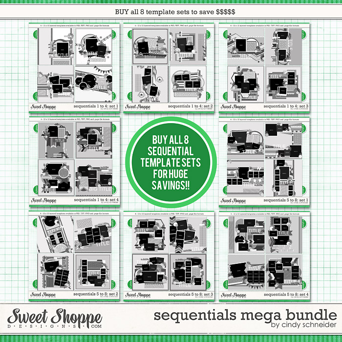 Cindy's Layered Templates: Sequentials MEGA Bundle by Cindy Schneider