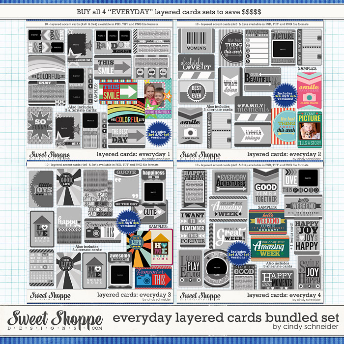 Cindy's Layered Templates: Everyday Layered Cards Bundle by Cindy Schneider