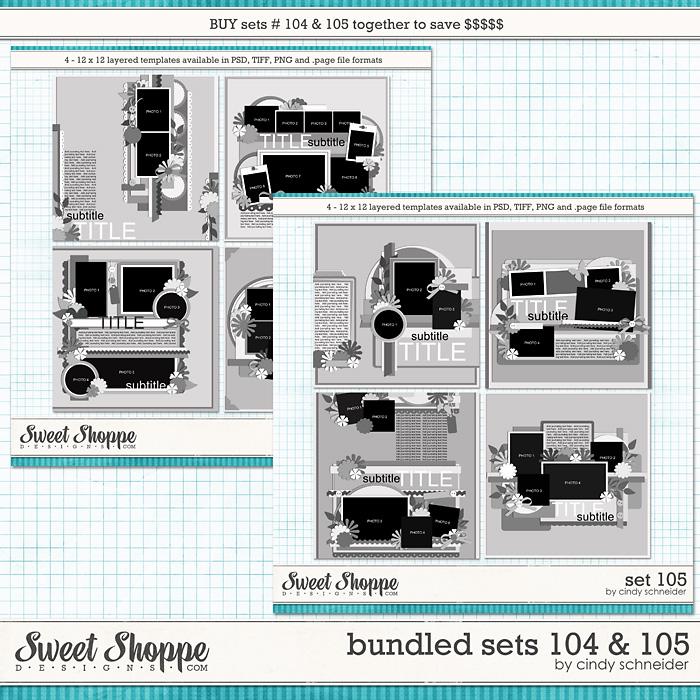 Cindy's Layered Templates - Bundled Sets #104-105 by Cindy Schneider