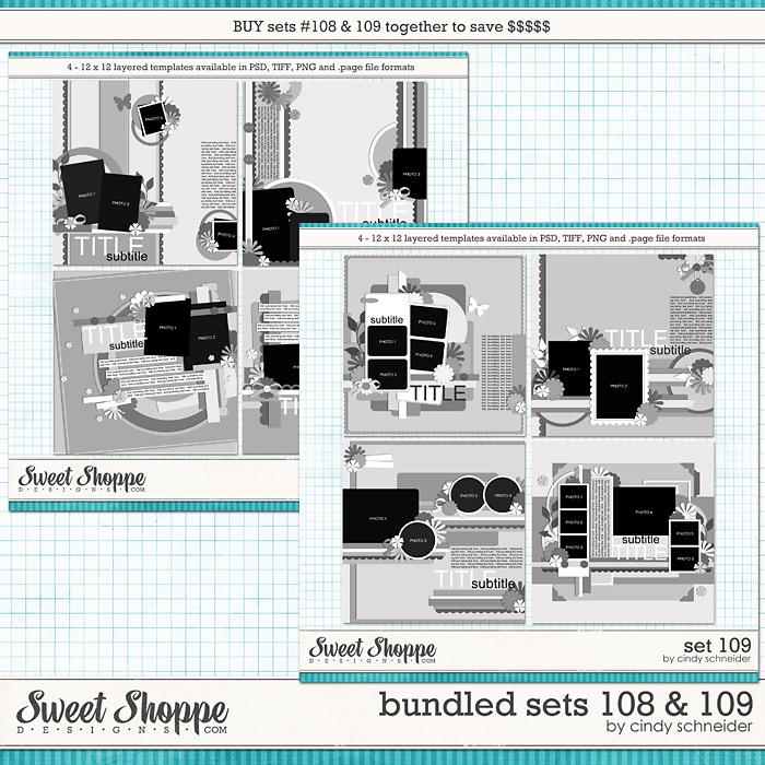 Cindy's Layered Templates - Bundled Sets #108-109 by Cindy Schneider