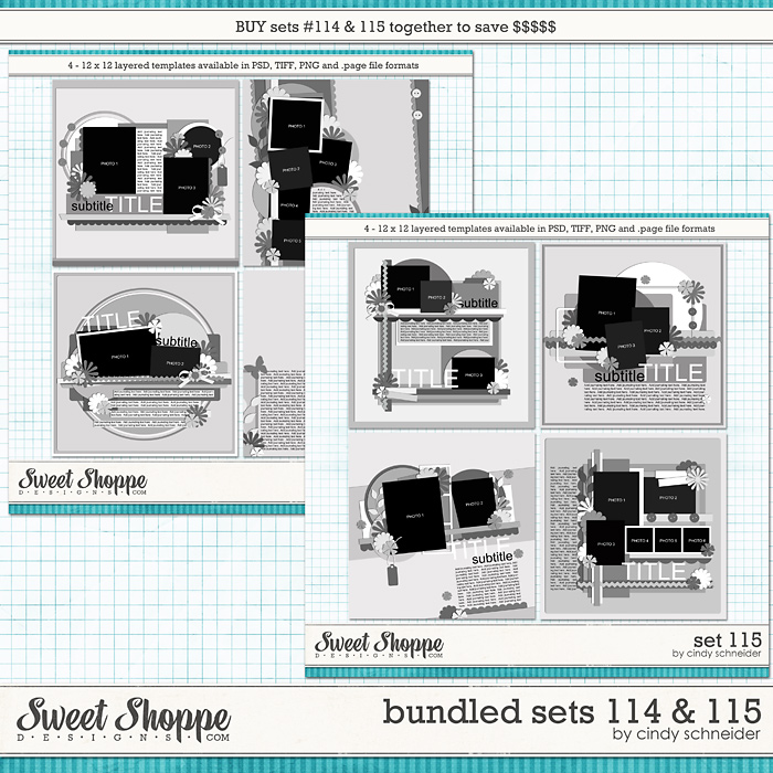 Cindy's Layered Templates - Bundled Sets #114-115 by Cindy Schneider