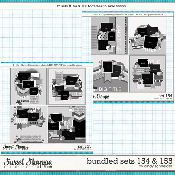 Cindy's Layered Templates - Bundled Sets #154-155 by Cindy Schneider