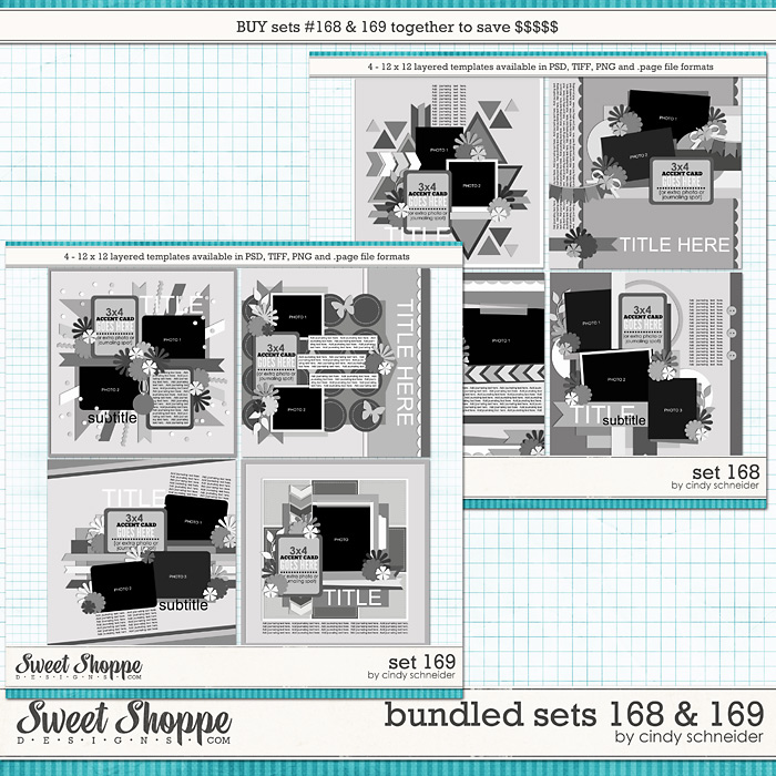Cindys' Layered Templates - Bundled Sets #168-169 by Cindy Schneider