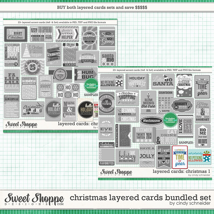 Cindy's Layered Cards: Christmas Bundle by Cindy Schneider