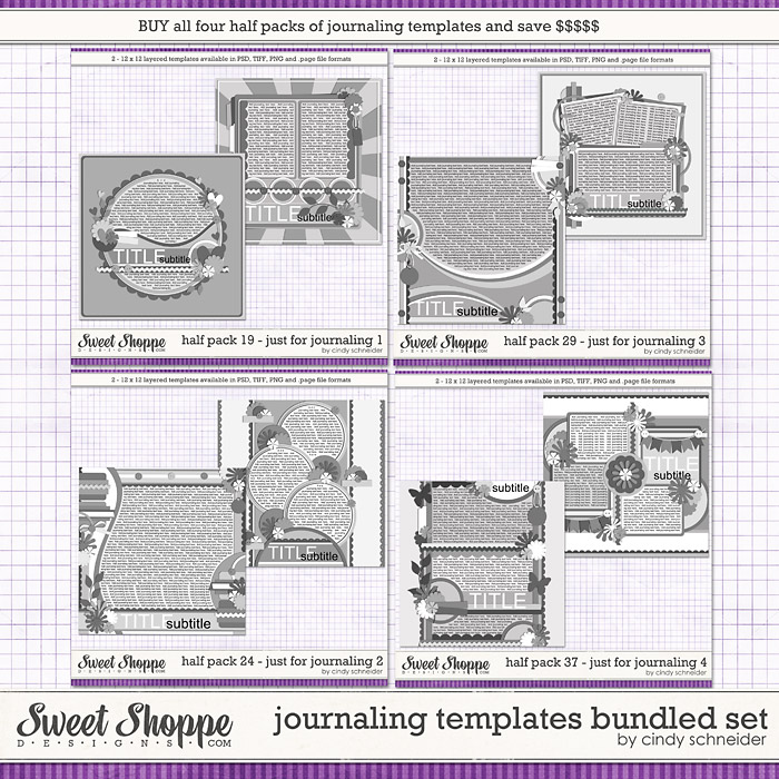 Cindy's Journaling Templates - Bundled Set