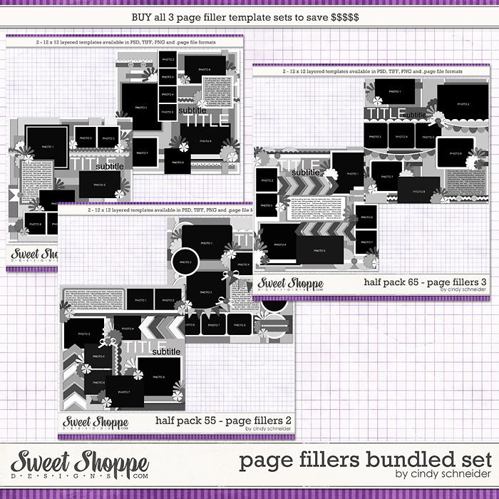 Cindy's Templates: Page Fillers Bundled Set