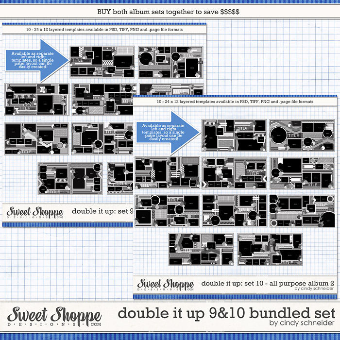 Cindy's Templates: Double It Up 9 & 10 Bundled Set by Cindy Schneider