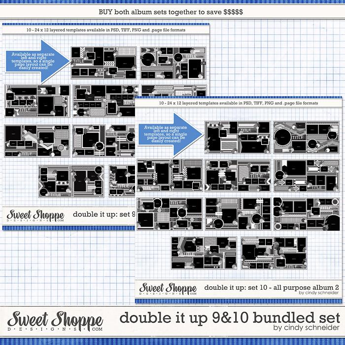 Cindy's Templates: Double It Up 9 & 10 Bundled Set by Cindy Schneider