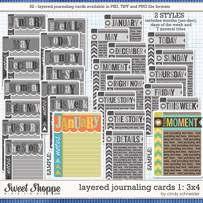 Cindy's Layered Journaling Cards 1: 3x4 by Cindy Schneider