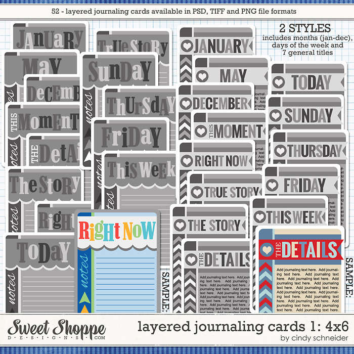 Cindy's Layered Journaling Cards 1: 4x6 by Cindy Schneider