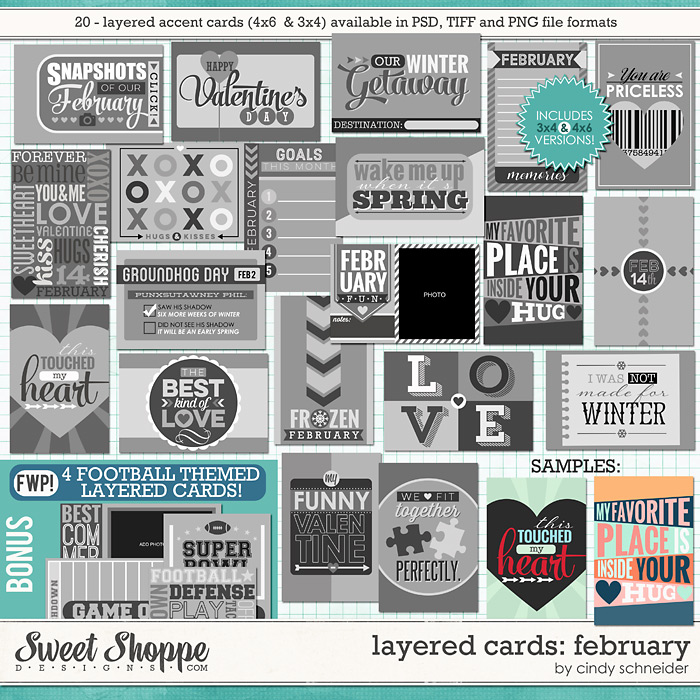 Cindy's Layered Cards: February Edition by Cindy Schneider