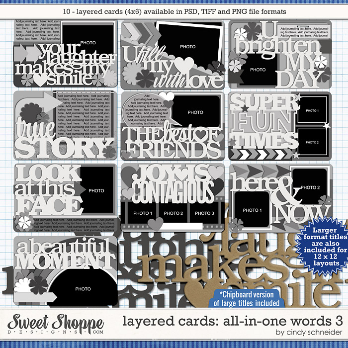 Cindy's Layered Cards: All in One Words 3 by Cindy Schneider