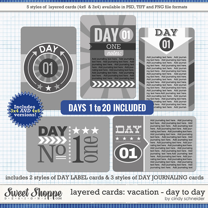 Cindy's Layered Cards: Vacation Day to Day by Cindy Schneider