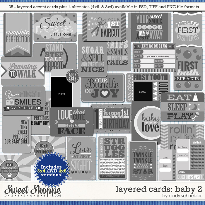 Cindy's Layered Cards: Baby 2 by Cindy Schneider