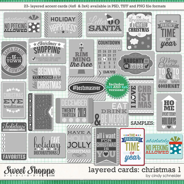 Cindy's Layered Cards: Christmas 1 by Cindy Schneider